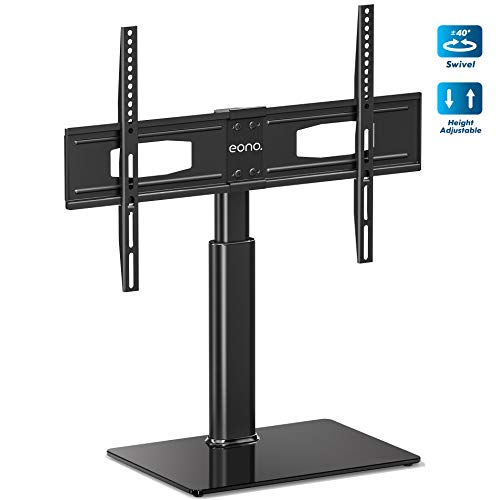 Eono by Amazon Soporte Giratiorio de TV de 32 a 65 Pulgadas Altura Ajustable Soporte de Mesa para Televisor LCD LED OLED Plasma Plano Curvo