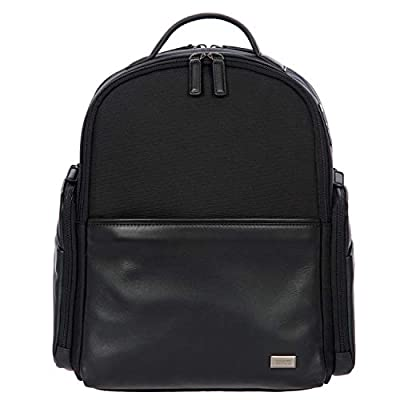 Bric's Monza Medium Laptop|Tablet Business Backpack, Black/Black, One Size