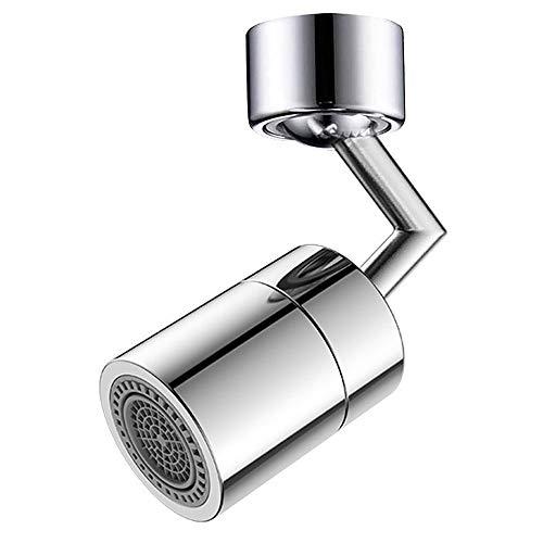 Aireador de grifo de fregadero giratorio de 720 grados, Aireador de grifo de rosca hembra, Aireador de fregadero de cocina giratorio Accesorio de pulverizador aireador para baño de cocina (FM22)