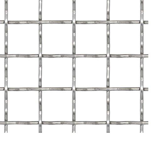 Vislone Drahtgitter 50 x 50 cm Wellengitter Edelstahl Gittermatte Gitter Maschenweite 31 x 31 mm
