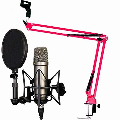 Rode NT1-A condensador Micrófono Keepdrum 5-nb35mesa brazo de micrófono micrófono Soporte Brazo Articulado, rojo