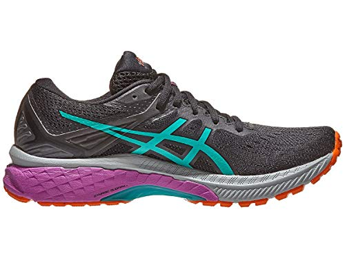 ASICS Women's GT-2000 9 Trail Running Shoes, 7.5, Black/Baltic Jewel