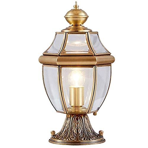 Zkciss Pfosten-Kappen-Licht-Holz-Zaun-Pfosten-Weg, Plattform, Zaun-Licht-Pfosten-Licht-Garten-Dekor-Glaspfosten-Säulen-Laterne-wasserdichte Spalten-Lampe