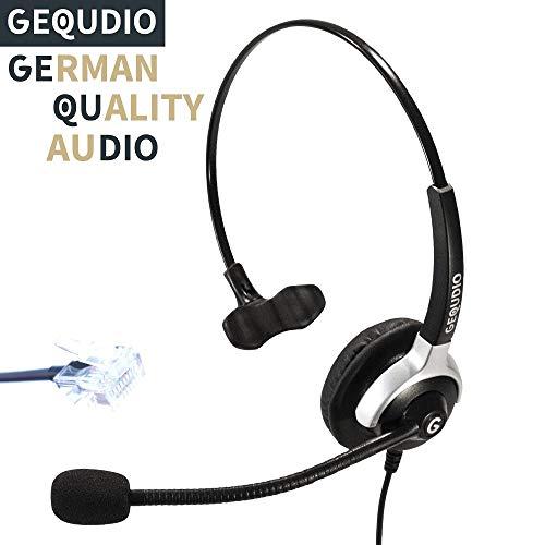 Auricular con micrófono para Unify® OpenStage 30 40 60 80, OpenScape teléfonos con conector RJ | 60 g de peso