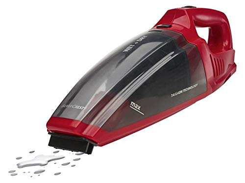 Silvercres - Aspiradora de mano en húmedo y en seco (batería de iones de litio respetuosa con el medio ambiente, montaje en pared)
