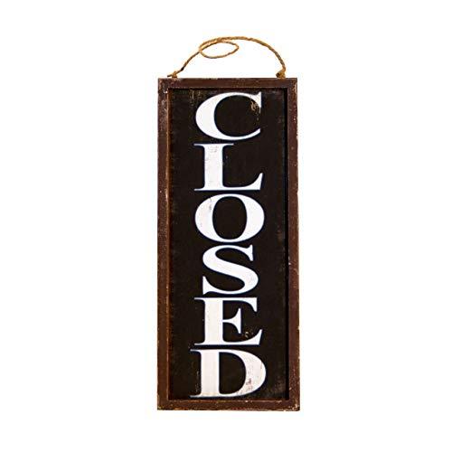 VIP Vintage Style Wooden Business Open Closed Door Sign