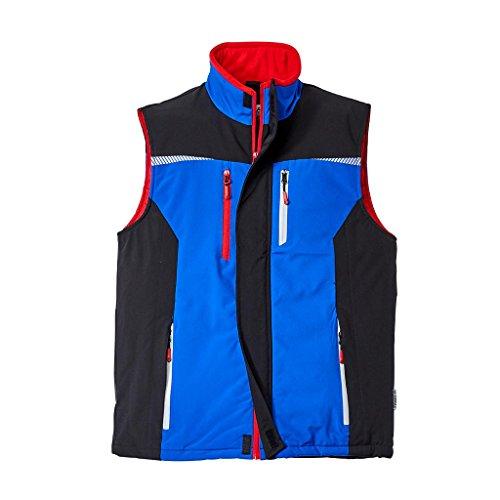 Terrax Workwear Weste blau rot   M