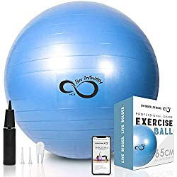 Professional sitting exercise ball for work and office - Best Exercise Ball in 2017 – Reviews & Buyer's Guide