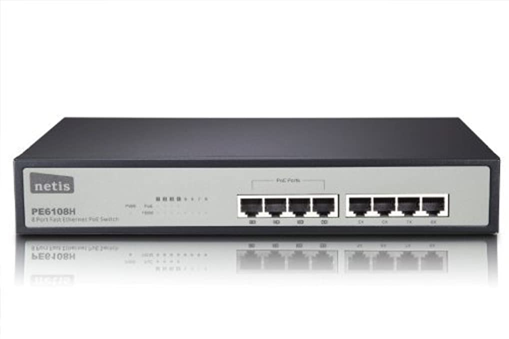 考古学者静かなリサイクルするNetis PE6108H 8-Port Ethernet Switch with 4 PoE Port, 15.4W per port, Total PoE Budget 62W IEEE802.3af [並行輸入品]