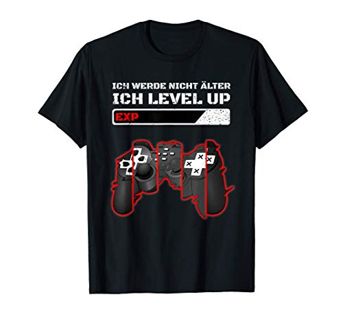 Gaming Zocken Konsole PS5 Level up Geburtstag Gamer Spruch T-Shirt