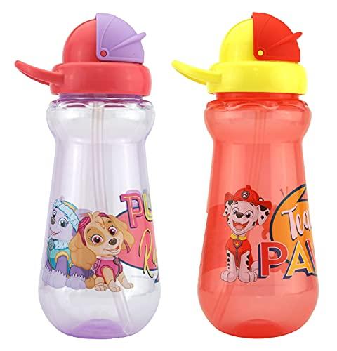 HOVUK Paw Patrol - Botella de agua potable (350 ml), color morado y rojo