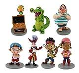 NEW Jake & Neverland Pirates Playset 7 Figure Cake Topper * USA SELLER* BY NANSY