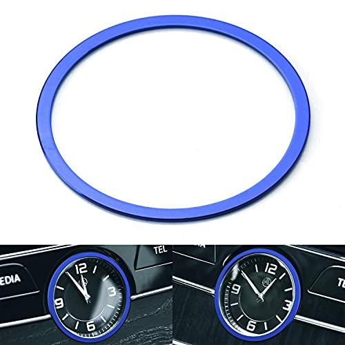 AMAZING1 (1 reloj de aluminio azul para salpicadero, decoración de anillo de decoración compatible con Mercedes W205 Clase C W213 Clase E X205 Clase GLC