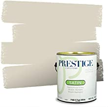 PRESTIGE Paints Interior Paint and Primer In One, 1-Gallon, Satin, Comparable Match of Benjamin Moore* Edgecomb Gray*