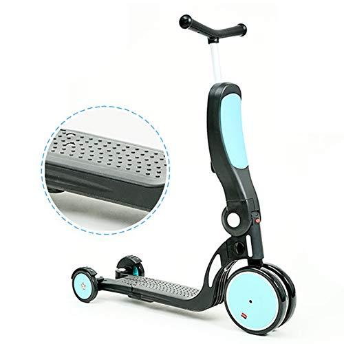 Bicicleta sin pedales YXX Bici Bicicletas de Equilibrio para bebés/Andador para niños pequeños con Freno de pie y 3 Ruedas, 5 en 1 Scooter Infantil para niños/niñas 2 3 4 5 6 años