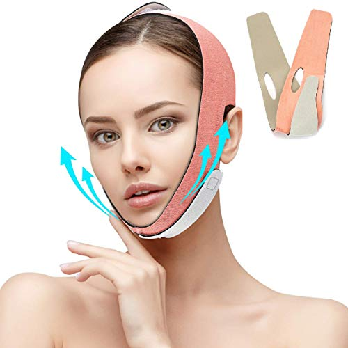 Face Slimming Strap, Facial Weight Lose Slimmer Device Double Chin Lifting Belt, Pain Free V-Line Chin Cheek Lift Up Band Anti Wrinkle Eliminates Sagging Anti Aging Breathable Face Shaper Band