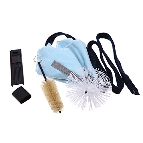 Andoer Saxophone Sax Cleaning Tool Brush Cloth Thumb Rest Cushion Reed Case...