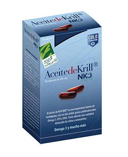 100% Natural Aceite Krill Nko Omega 3-80 Cápsulas en