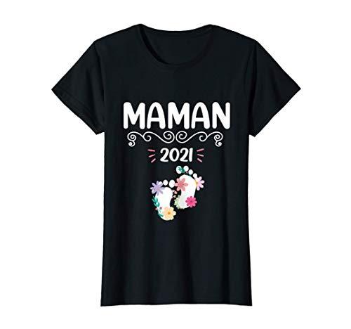 Femme Femme Cadeau De Grossesse Maman 2021, Future Maman T-Shirt