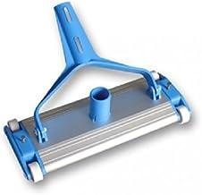 Carro limpiafondos piscina aluminio 4 ruedas y cepillo de