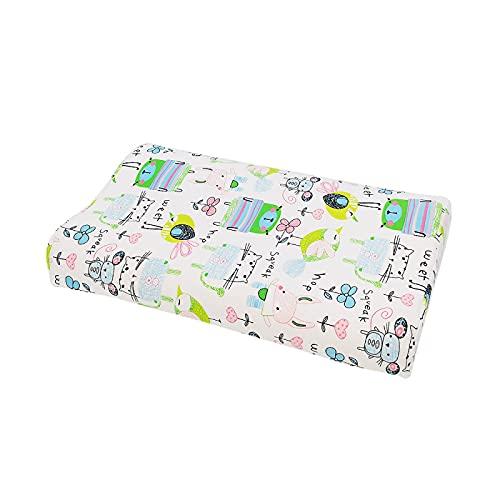 CNYG Almohada de cama para niños, antialérgico, para niños, recién nacidos, almohada hipoalergénica, 45 x 27 x 6/9 cm