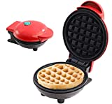 Portable Mini Waffle Maker, Electric Waffle Iron Non-Stick, Pancake Maker Cake Making Machine, Paninis, Anytime, Anywhere Enjoy Breakfast & Lunch or Snacks