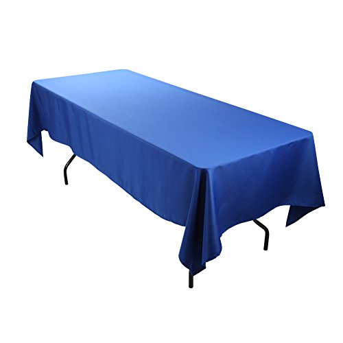 ETEX Rectangle Tablecloth  60 x 126 Inch  Royal Blue Rectangular Table Cloth for 8 Foot Table in Washable Polyester