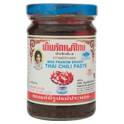 Mae Pranom Thai Chili Paste 8oz. (M) Thai Food Cooking Product of Thailand
