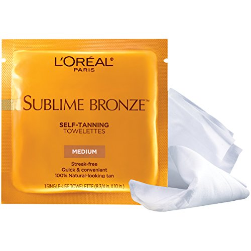 Self Tanner, L'Oreal Paris Sublime Bronze Self-Tanning Towelettes, Streak-Free, Natural Looking Tan, 6 ct.