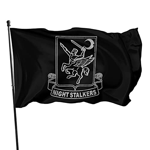 US Army Retro 160th Special Operations Aviation Regiment Garden Flag 3 X 5 Flag for House Decor Banner Black
