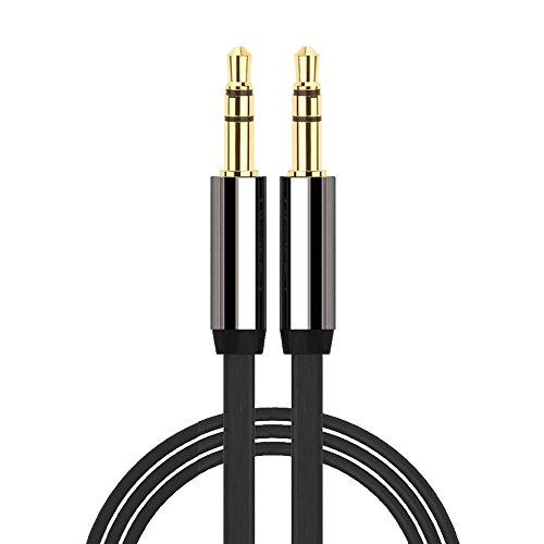 Cavo audio con due jack in oro per uscita AUX da 3,5 mm, per iPod e MP3, lunghezza 1 m