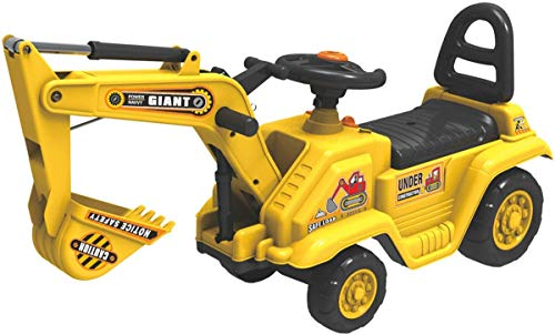 Quickdraw Excavator Ride-On Yellow Loading Truck Childrens Sand Digger Toy Car