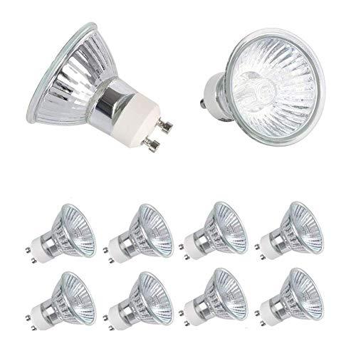 ZUOLUO GlüHbirne Backofen Halogenlampe Glühbirnen für Haus Gu 10 Glühbirnen Glühbirnen Gu10 Gu10 Glühbirnen Gu 10 LED-Glühbirnen Gu10 Halogenlampen 50w,10pack