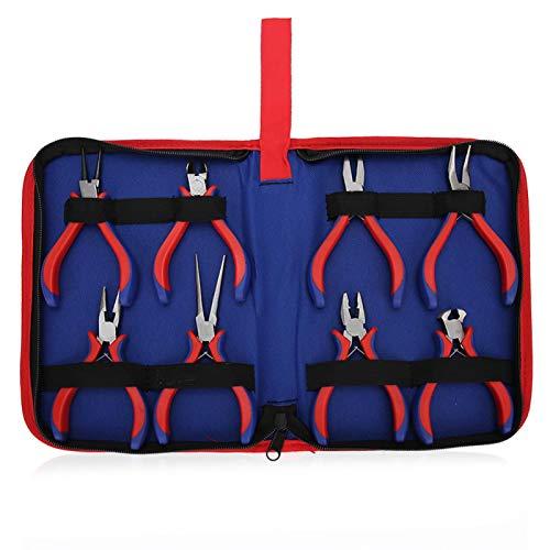 8-teiliges Zangenset, gut aussehendes Aussehen, mit Oxford-Stofftasche, DIY-Bastelwerkzeug(Double color handle 5 inch)