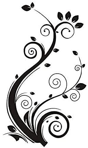 DIY Swirl Vine en forma de flores pegatinas de pared para la decoración de la sala de estar impermeable pegatinas de arte de pared papel pintado decoración del hogar 74 x 43 cm