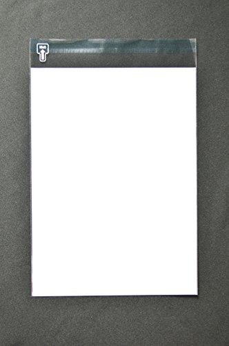 印刷OPP透明封筒 A4 【500枚】 OPP 40μ(0.04mm) 表:白ベタ 切手/筆記可 静電気防止処理テープ付き 折線付き 横225×縦305+フタ40mm印刷可