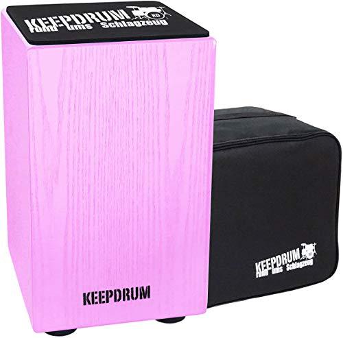Keepdrum DC1M PK Junior Cajon voor kinderen roze + tas + zitkussen