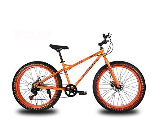 ZTBXQ Fitness Sports Outdoors 26 Inch Mountain Bike for Adults Dual Disc Brake Fat Tire Mountain Trail Bicycle Hardtail Mountain Bike High-Carbon Steel Frame
