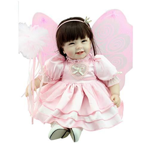 tytl Silikon Wiedergeborene Babypuppen Spielzeug 55cm Engel Prinzessin Mit Schmetterlingsflügeln Vinylpuppen Realistische Zahn Mädchen Spielzeug Für Kinder 22 Zoll