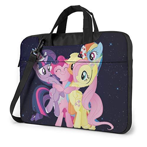 My-Little Po-Ny Laptop Bag 15.6 Inch Shoulder Messenger BagLaptop Bag Satchel Tablet Bussiness Carrying Handbag for Women Men