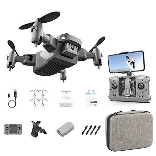 tanbea-UK Mini Foldable Drone with HD Camera FPV WiFi RC Quadcopter Practical Remote Control Drone Toy with HighSpeed Rotation 3D Flips Headless Mode Best Service