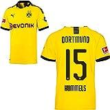 PUMA Borussia Dortmund BVB Heimtrikot 2019 2020 Home Trikot Sponsor BL Logo Herren Mats Hummels 15 Gr XL