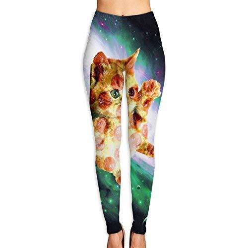 Leggings Estampados para bebé con Gato Espacial para Mujer, Leggings de Entrenamiento de Yoga de Cuerpo Entero, Pantalones Capri Suaves