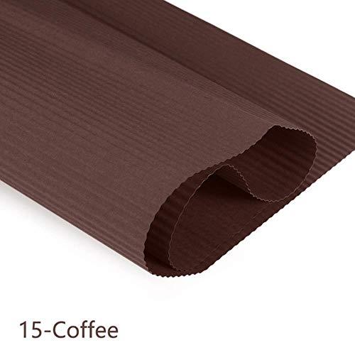 1 Roll 50 * 70 cm DIY Handgemaakte Gekleurd Golfpapier Kid Scrapbooking Craft Supplies Wikkelen Origami Boeket Verpakkingspapier, 15-Koffie