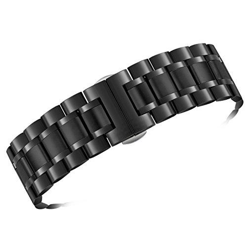 AUTULET di fascia cinturini per orologi 21mm degli uomini d'argento solido...