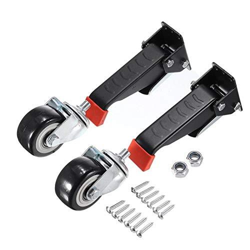 HHOSBFSS 2 STÜCKE Heavy Duty Workbench Casters Kit, Einziehbare Caster Räder Für Werkbänke Maschinen Und Tabellen (Color : 2pcs Caster)