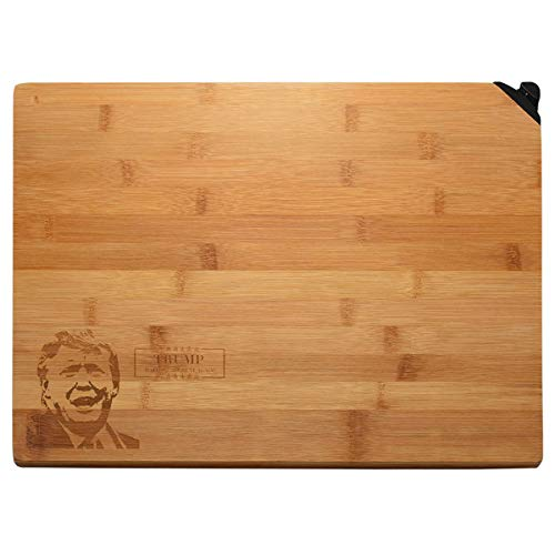 Cutting Board for Kitchen Organic Bamboo Cutting Board with Knife Sharpener Best Kitchen Chopping Board for Meat Cheese and Vegetables,Butcher Block 13.5 x 9.5 x 1 inches