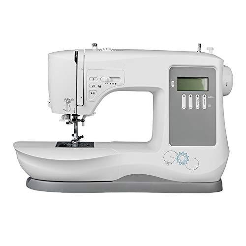 yaunli Mini máquina de Coser Máquina De Coser Home Electronic Machine De Costura Automática Tipo De Bordado con Máquina De Coser Máquina de Coser portátil (Color : White, Size : 35x15.5x27.5CM)