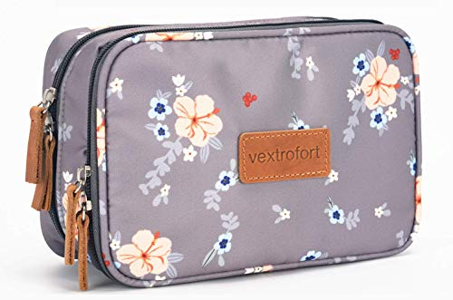 Small Makeup Bag for Purse Travel Cosmetic Bags for Women with Brush Organizer and