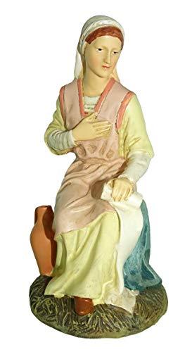 Ferrari & Arrighetti Nativity Scene Figurine: Virgin Mary - Martino Landi Collection - 16 cm